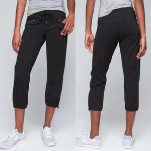 Athleta Black Metro Slouch Capri Pants S
